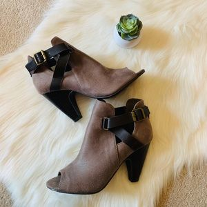 Soda Peep Toe Booties